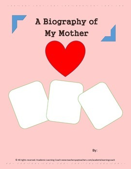Biography - A Mother's Day Memoir (HANDOUT)