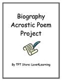 Biography Acrostic Poem Project