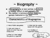 Biography Anchor Chart