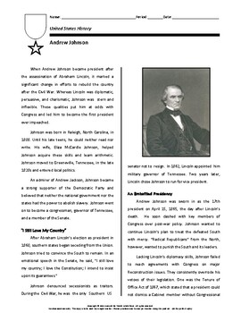 Biography: Andrew Johnson