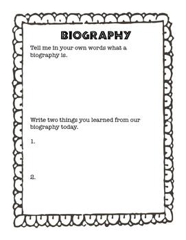 Biography Assessment
