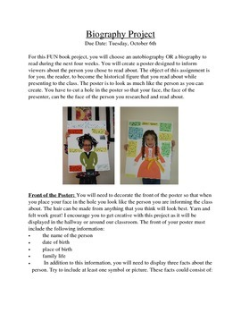 Biography/Autobiography Book Project