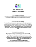 Biography/Autobiography Book Talk Project Handout and Rubric
