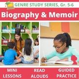 Biography, Autobiography, Memoir Genre Unit BUNDLE: 20 Lessons & 17 Read Alouds