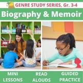 Biography, Autobiography, Memoir Genre Unit BUNDLE- Read Alouds, Lessons