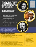 Biography, Autobiography, Memoir: POSTER STYLE BOOK PROJECT