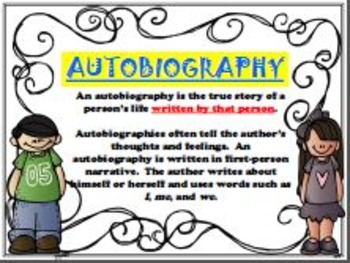 Biography & Autobiography (ENGLISH) Posters/Anchor Charts