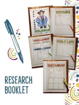 Biography/Autobiography Printable and Editable Research Templates