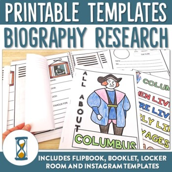 Biography or Autobiography Printable and Editable Research Templates