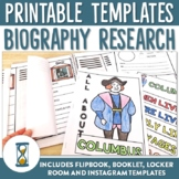 Editable Biography Research Templates