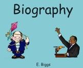 Biography & Autobiography - Smartboard Lesson