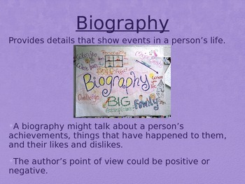 Biography, Autobiography, and Memoir Editable
