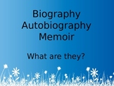 Biography, Autobiography, and Memoir Genre Introduction Powerpoint