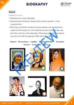 Biography B2 Upper-Intermediate Lesson Plan For ESL