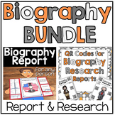 Biography BUNDLE: Biography Report & QR Codes for Biography Research