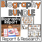 Biography BUNDLE: Biography Report & QR Codes for Research (Including Women Set)