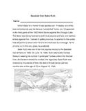 Biography Bank: BABE RUTH, BASEBALL STAR + 7 Mulitple Choice Reading Comprehensi