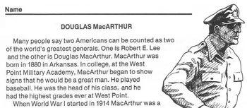 Biography Worksheet: GENERAL DOUGLAS MacARTHUR w/ 4 Multiple Choice Reading Qs