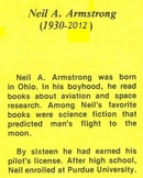Biography Bank: NEIL ARMSTRONG, ASTRONAUT Cooperative Group Activity or Partners