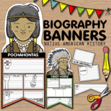 Biography Banners + Pennants - Native American History