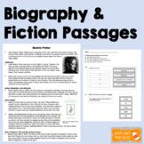 Biography Beatrix Potter and Fiction Passages