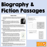Biography and Fiction Passages w/ Comprehension & TEI Ques