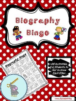 *Back to School* Biography Bingo