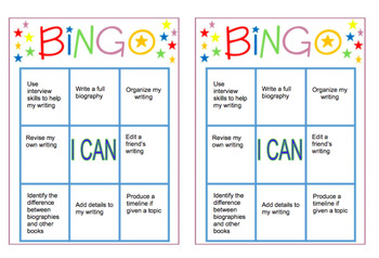 Biography Bingo-Assessment