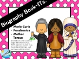Biography Book-ITs FAMOUS WOMEN - information text and activities