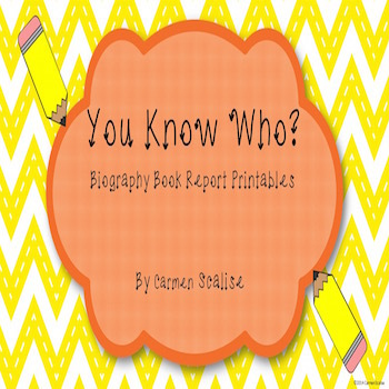 Biography Book Printables