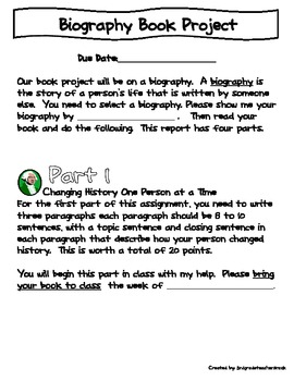 Biography Book Project