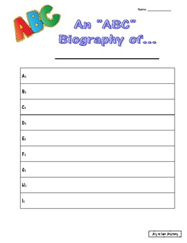 Biography Book Project Activities