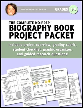 Biography Book Project NO-PREP Packet