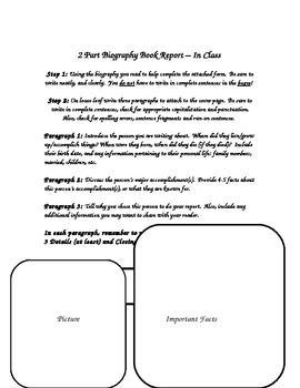 Biography Book Report Template Teaching Resources Teachers Pay - Biography book report template