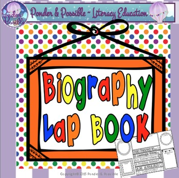 Biography Lap Flip Book