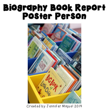 Biography Book Report Poster