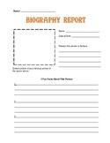 Biography Book Report Printable