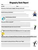Biography Book Report Template
