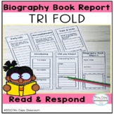 Biography Book Report Tri Fold