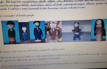 Biography Book Report with Bottle People Visual Presentation Project