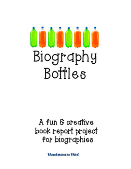 Biography Bottle Book Project