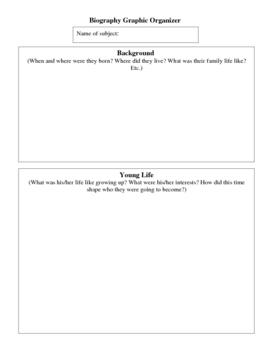 Biography Brochure Project