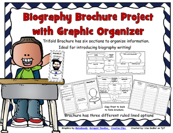 Biography Brochure Project with Graphic Organizer