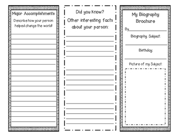 Biography Brochure Reading Response