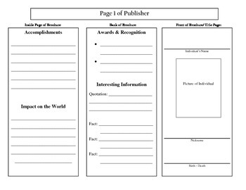 Biography Brochure - Research Planning Page