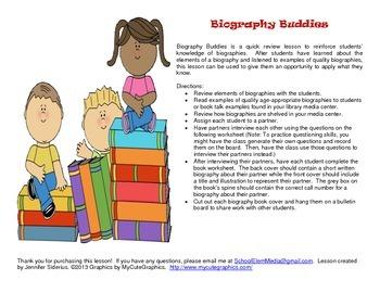 Biography Buddies Worksheet
