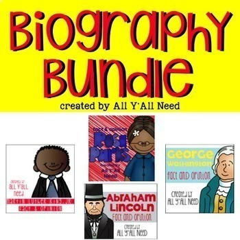 Biography Bundle Fact and Opinion