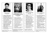 Biography Cards of Chinese Revolution Leaders