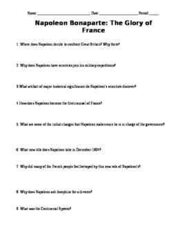 Biography Channel - Napoleon Bonaparte Video Questions