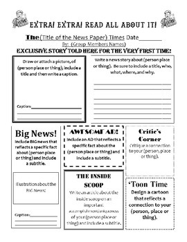 Biography, Characterization or Setting Description Poster/Newspaper Article